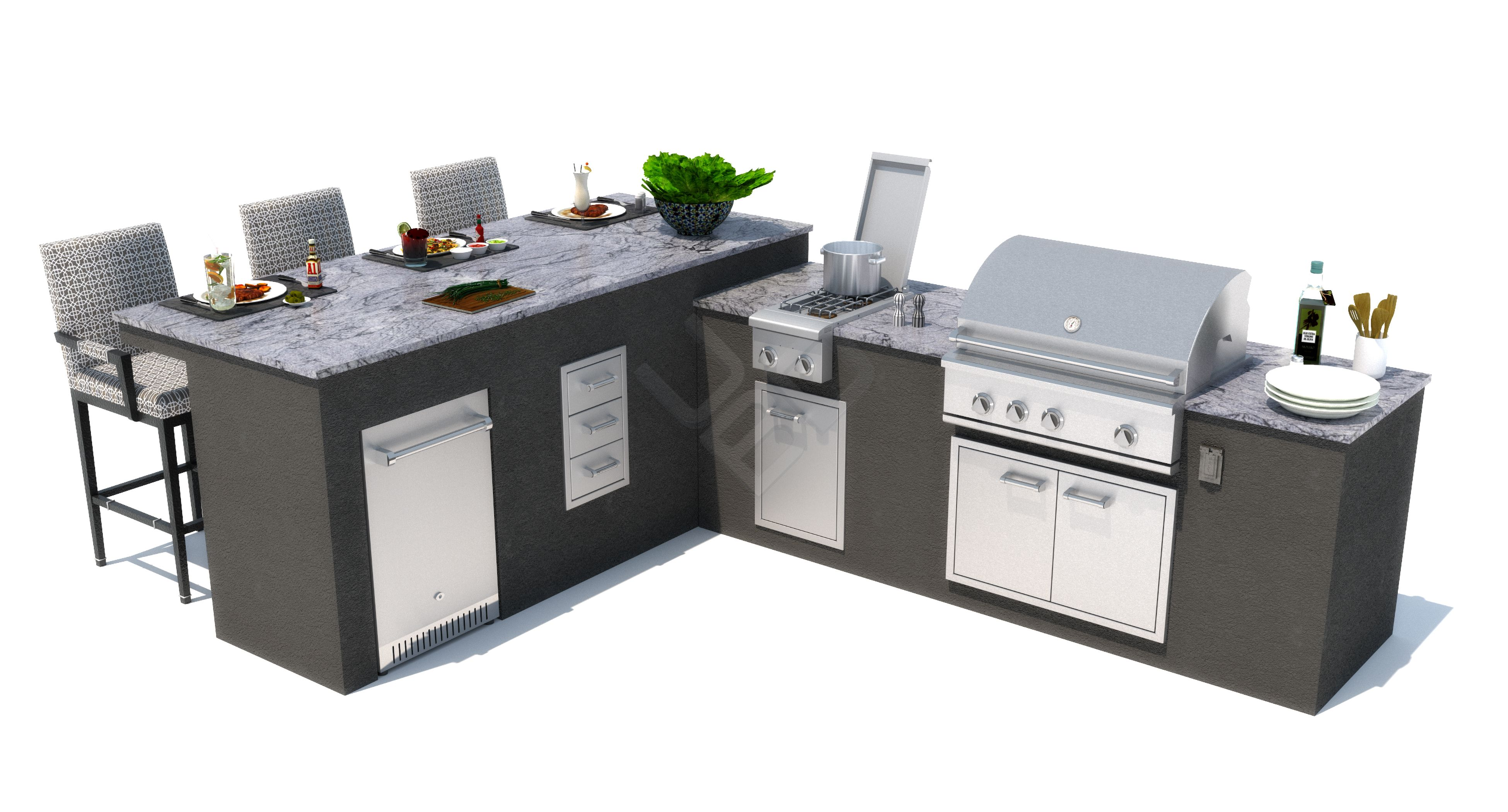 This Modular Outdoor Kitchen Comes In Multiple Configurations Finds The One Perfect For You At Outdoor Kitchen Modular Outdoor Kitchens Outdoor Furniture Sets