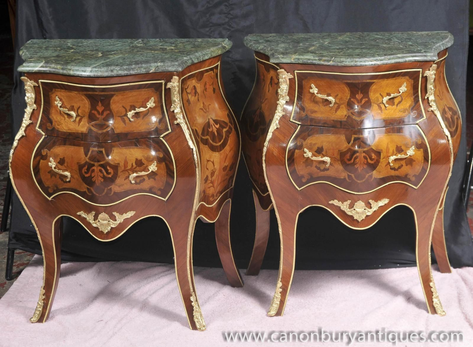Commode furniture - Photo Of Pair Bombe Louis Xv Nightstands Chest Drawers Commodes