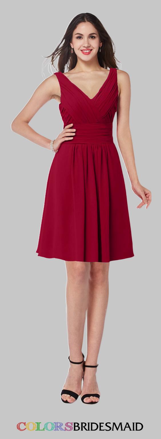 Colsbm celia dark red bridesmaid dresses in red bridesmaid