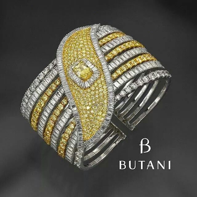 Elegance from butani jewellery Have your wrist frosted with diamonds this winter!