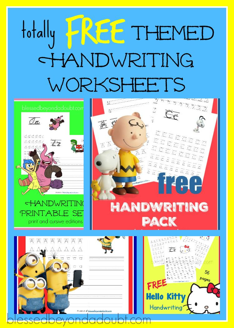 Worksheets Free Printable Handwriting Worksheets free printable handwriting worksheets fun themes whats hot on heres a list of that will help your child to master their skills in no ti