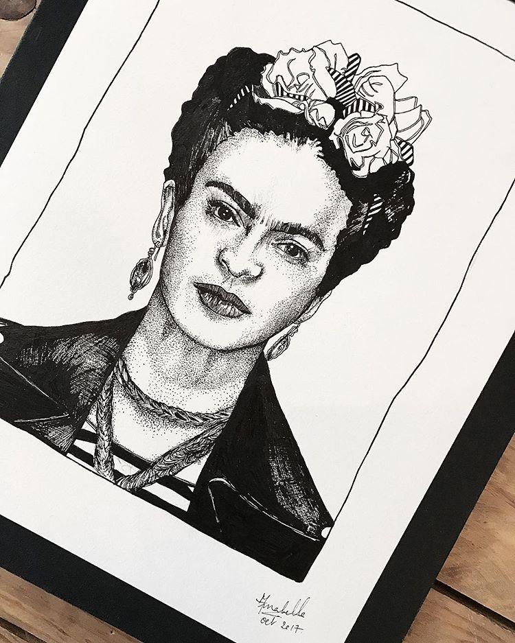 Zoom Frida Kahlo Pour Me Contacter Lildotart Gmail Com Love
