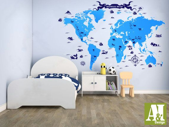 This is a unique original sticker from our collection decal set this is a unique original sticker from our collection decal set includes world map decal default color light blue map enhancements as seen in kids gumiabroncs Choice Image