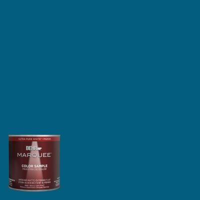 Behr Exterior Paint Home Depot behr marquee 8 oz. mq562 blue edge interior/exterior paint