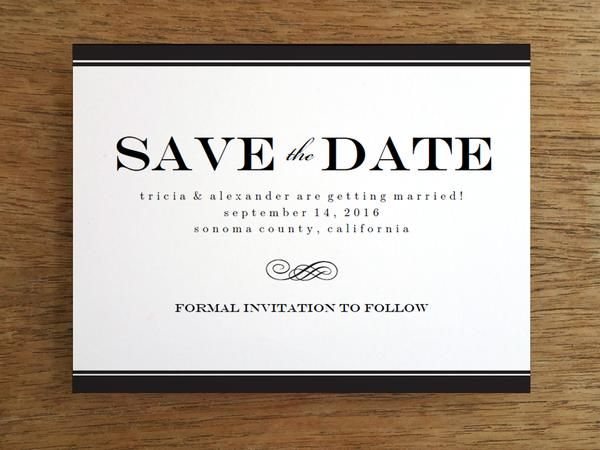 Free Save The Date Templates  Template And Weddings