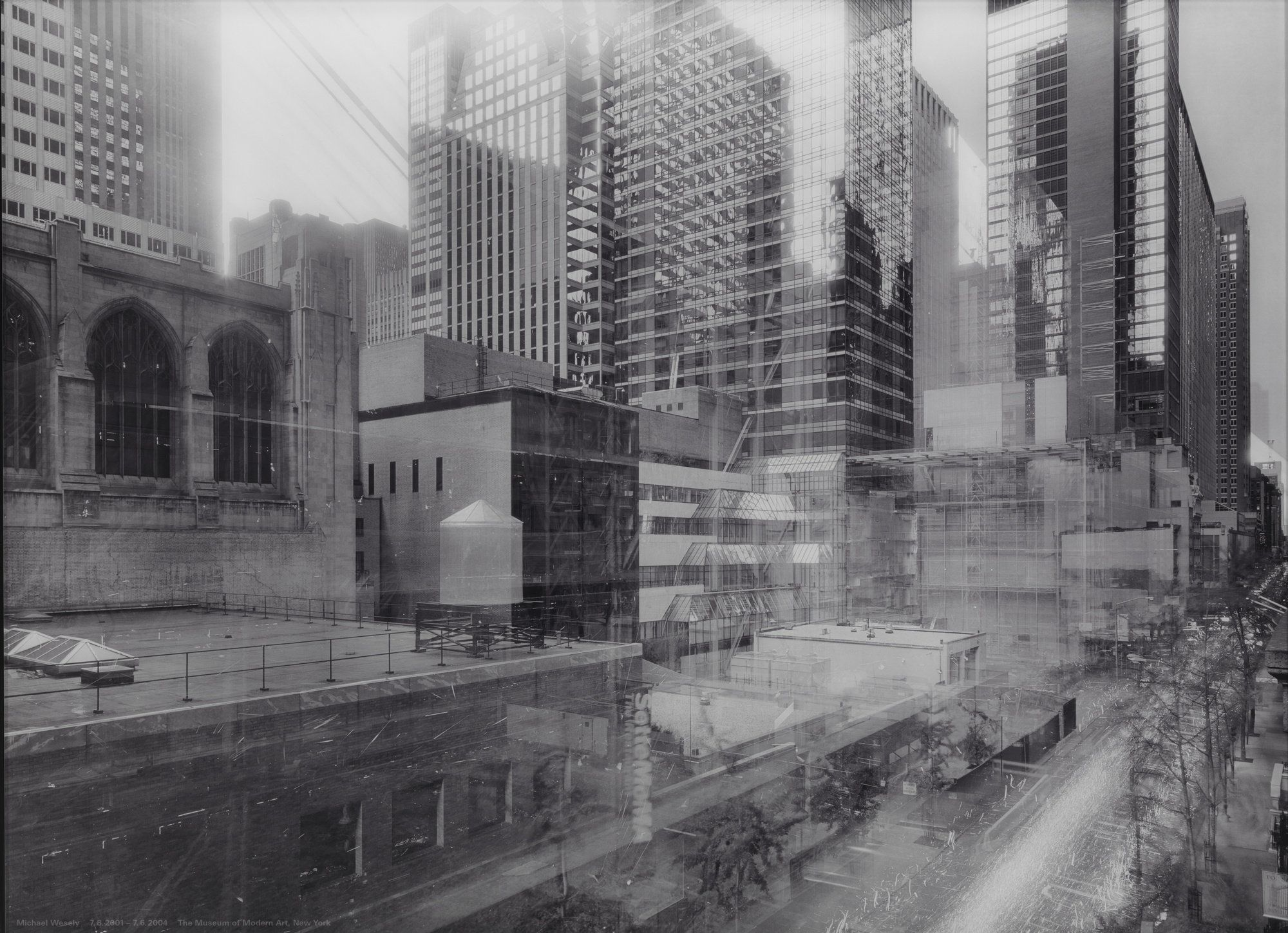 Michael Wesely 7 August 2001 7 June 2004 The Museum Of Modern Art New York 2001 04 Museum Of Modern Art Architecture Photography Modern Art