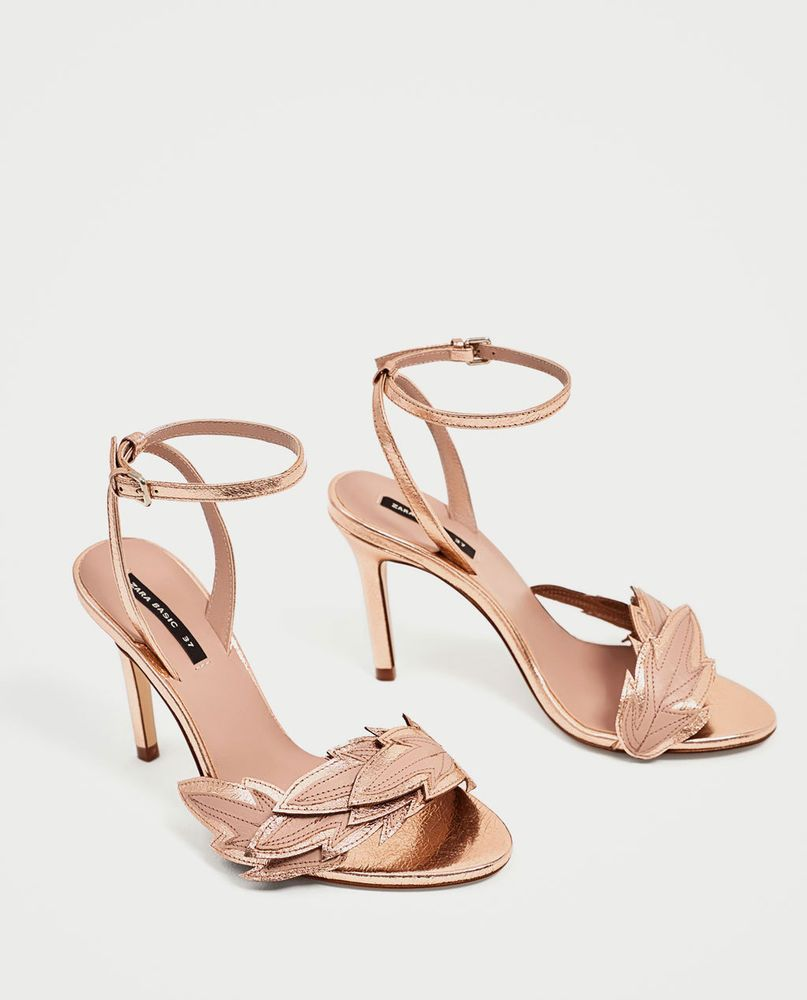 69674cd18 Zara leather strappy HIGH HEEL SANDALS WITH LEAF DETAIL/heels-pink/gold-sz  5-NEW #fashion #clothing #shoes #accessories #womensshoes #heels (ebay link)