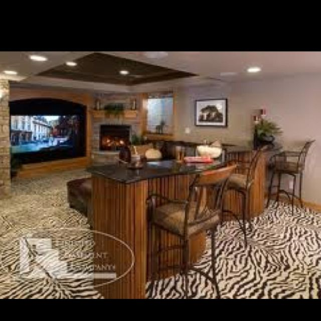 zebra print floors love this theater room with a bar plus rh pinterest com