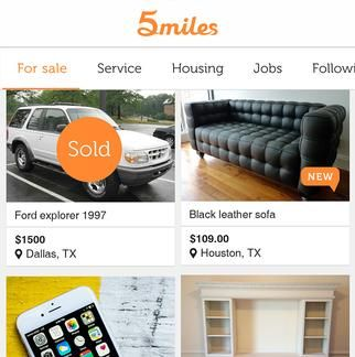 An Ex Alibaba Exec Lucas Lu Takes On Craigslist And Facebook With 5miles Dallas Business Journal Black Leather Sofas Leather Sofa Housing Jobs