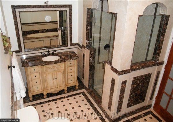 Emperador Dark Marble Bathroom Design, Emperador Dark Marble ...