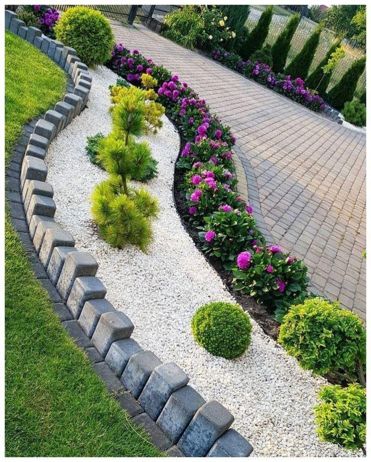 Photo of 59 stunning front yard courtyard landscaping ideas 32,  #courtyard #front #ideas #landscaping…