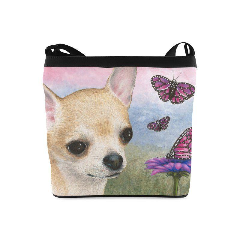Classic Shoulder Handbag Purse Bag Dog 85 Chihuahua art painting L.Dumas
