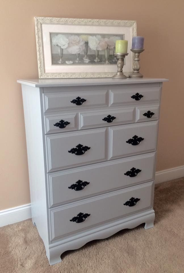Sold Solid Maple 4 Drawer Chest Finished In Light Grey Lacquer 32 Wide X 18 Deep X 41 High Repurposed Items Furniture Rehab Furniture Makeover