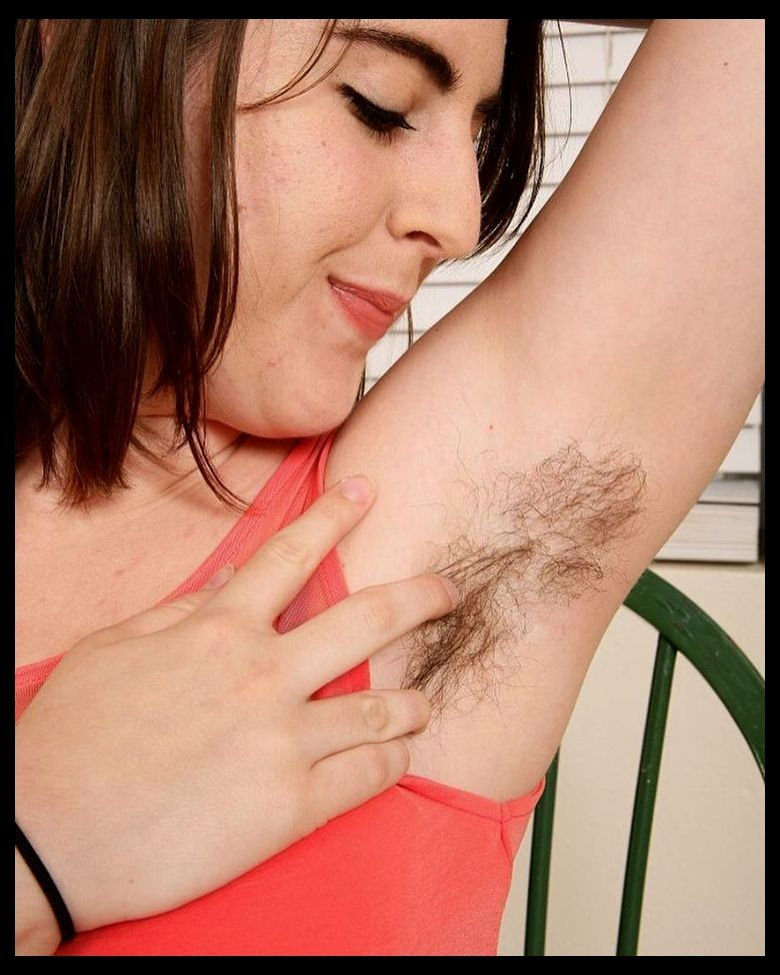 Hairy armpits on display in ben hopper's natural beauty project