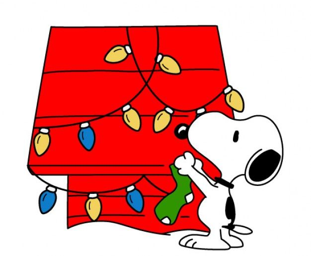 Snoopy Christmas vector clipart