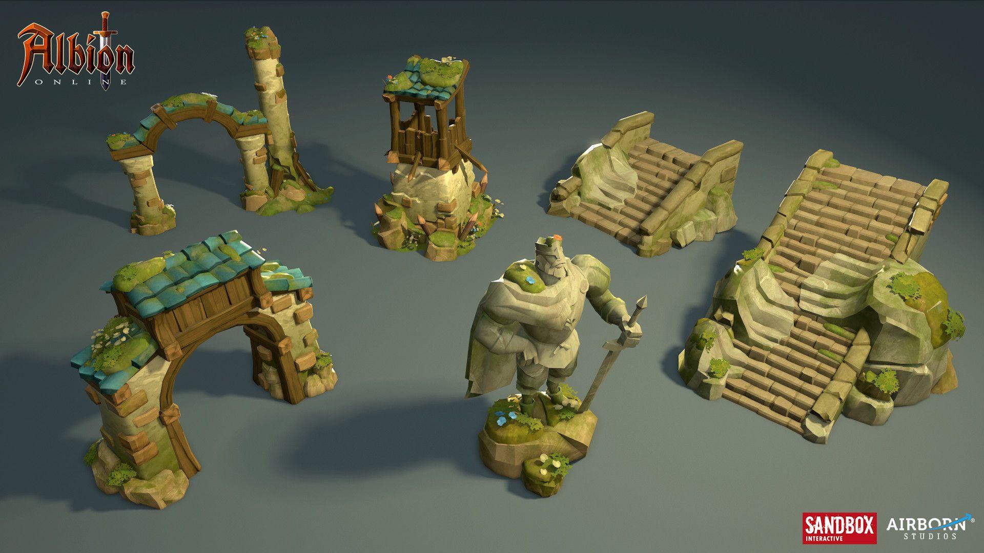 ArtStation Albion Online Swamp 3d Highlands buildings