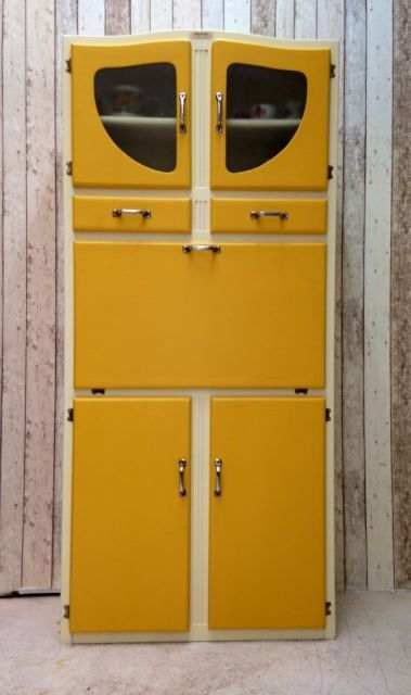 Vintage Retro Kitchen Cabinet Cupboard Larder Kitchenette 50s 60s