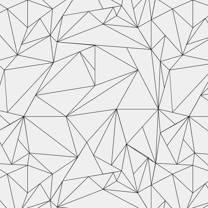 Geometric Simple Black And White Minimalistic Pattern Triangles