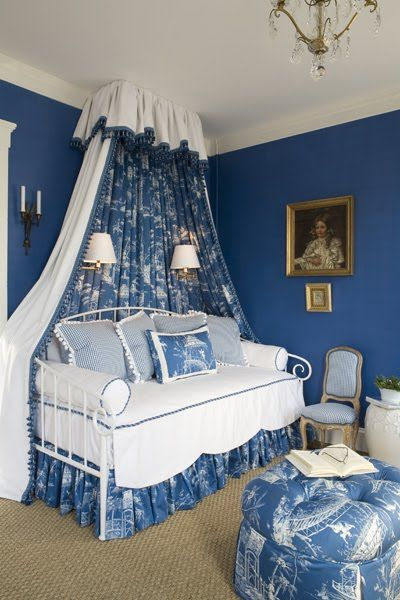 Interior Beautiful Blue Bedrooms beautiful blue and white bedrooms canopy bed drapes bedrooms