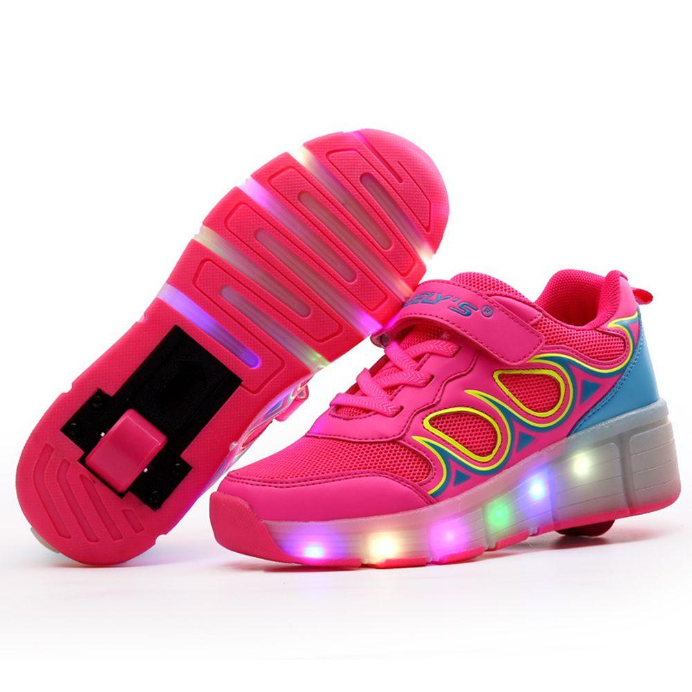 los angeles 430d2 e7527 Scarpe per bambini con Luci A LED Bambini Roller Skate ...