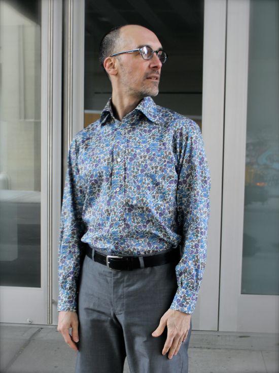 255739cff2e Liberty of London Poppy   Daisy men s dress shirt made by Peter Lappin   moodfabrics