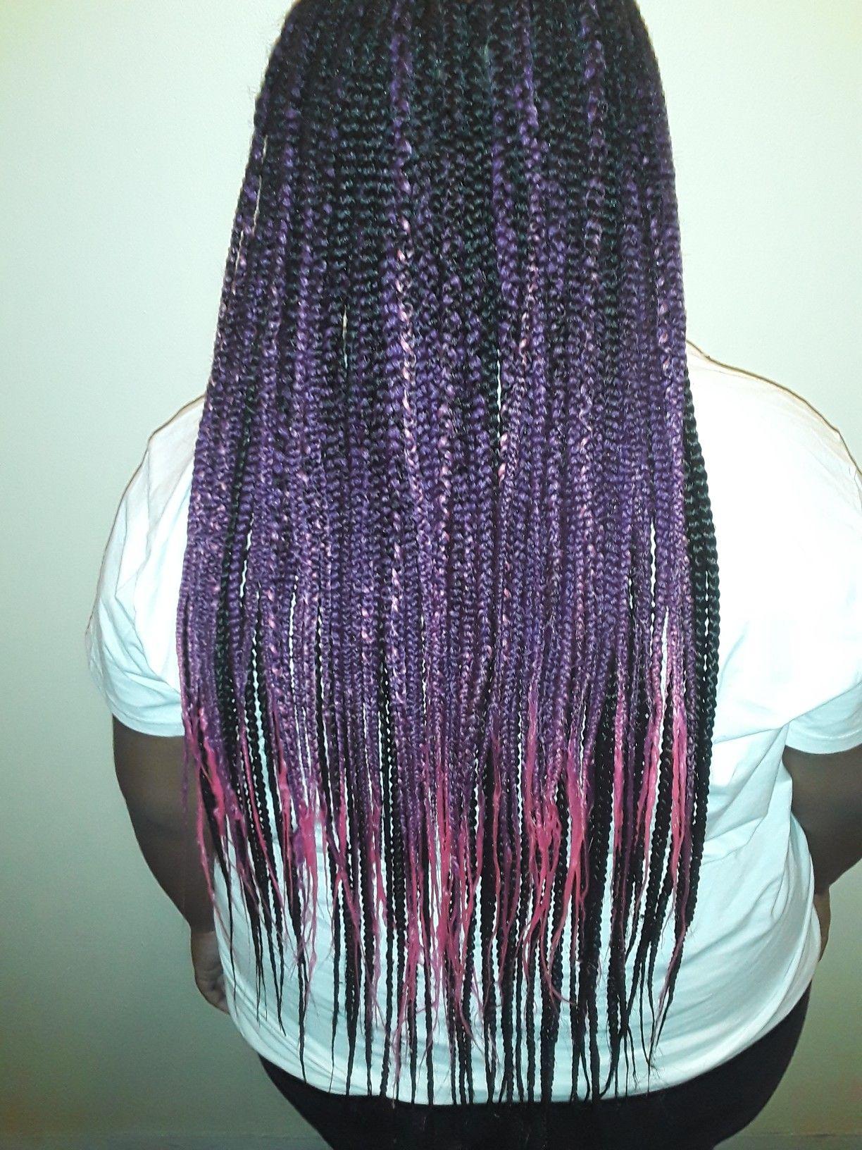 Done with antibacterial rainbow braid Rainbow braids