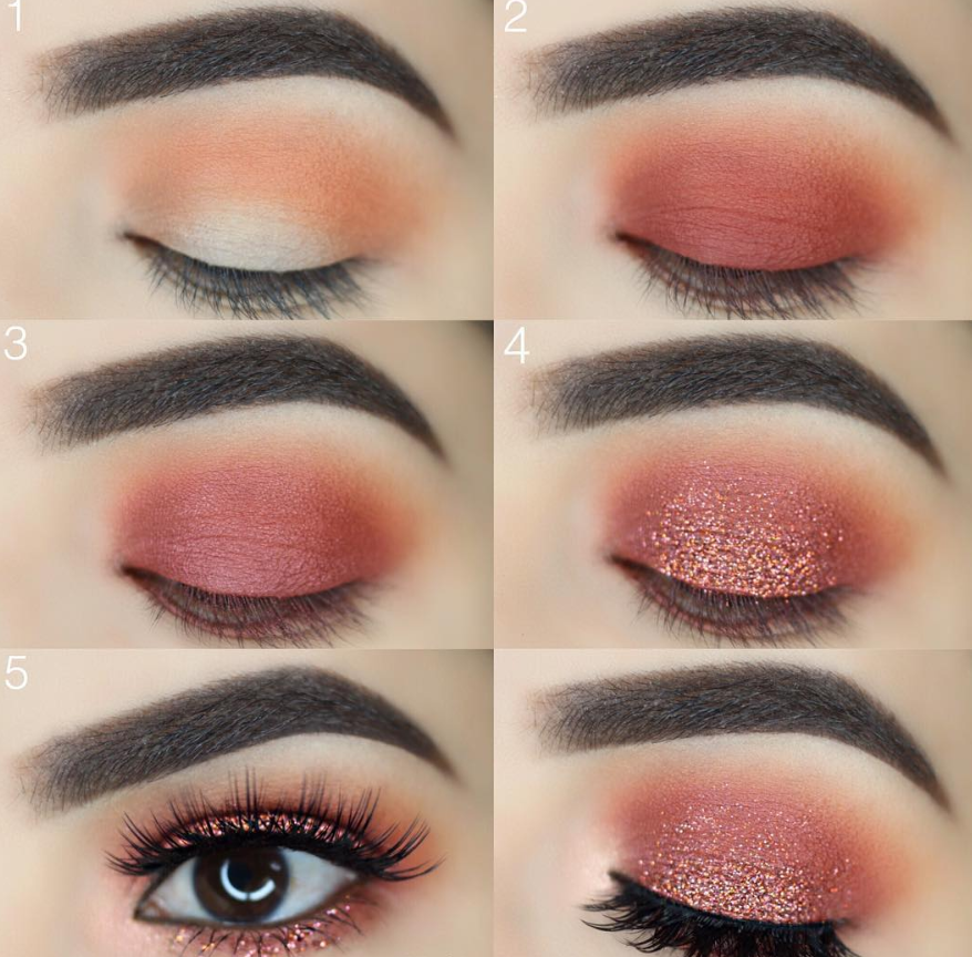 . 52 natural eye makeup step by step for beginners – #glittereyemakeup Easy eye … – Kreatives Make-Up – Maquillaje