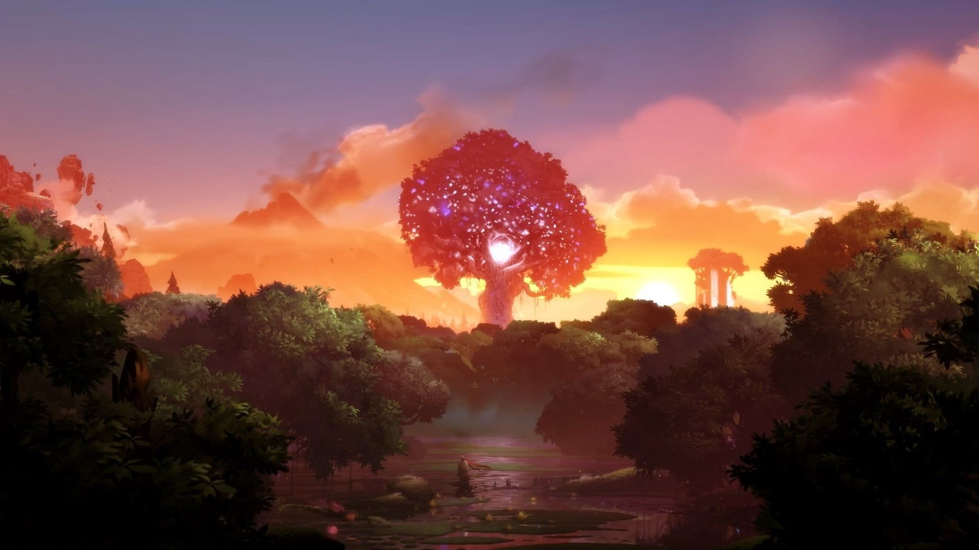 Green Tree Landscape Ori Ori And The Blind Forest 1080p Wallpaper Hdwallpaper Desktop World Of Warcraft Wallpaper Cool Wallpapers For Pc Cool Wallpaper