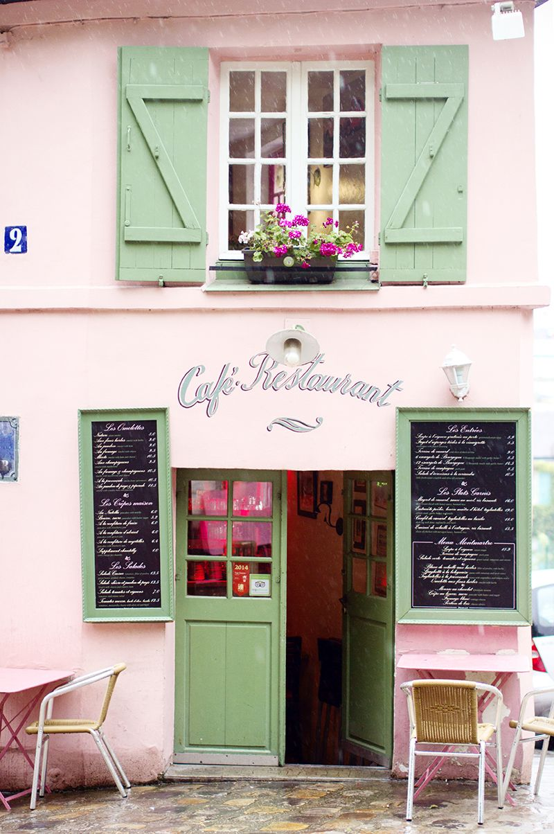 La Maison Rose bistro, Paris   the 'pink house' in Montmartre that was subject of a Maurice Utrillo's lithograph