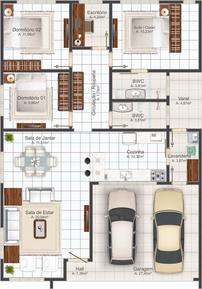 Plano de casa primer piso plano de casa de 1 piso planos for Planos de casa habitacion