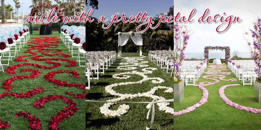 Aisle Petals - I Like The Red And White Ones