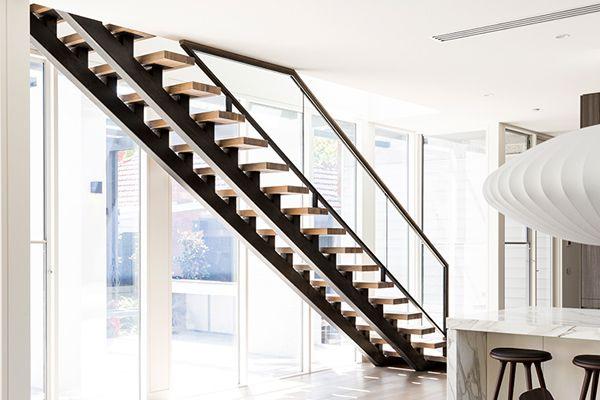 Best Chunky 66Mm American Oak Treads Primed Black Steel 400 x 300
