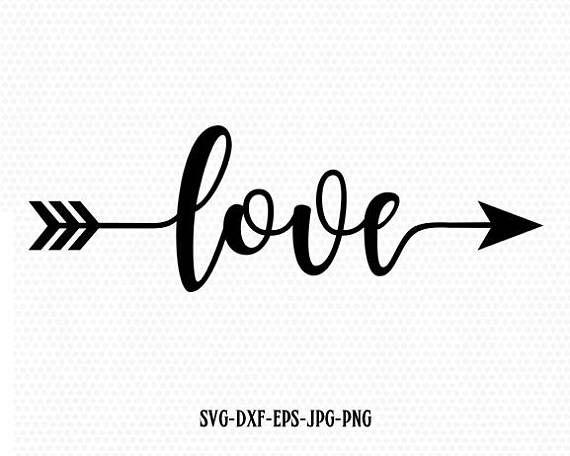 Love Valentine SVG Valentines Day SVG Love arrow SVG CriCut
