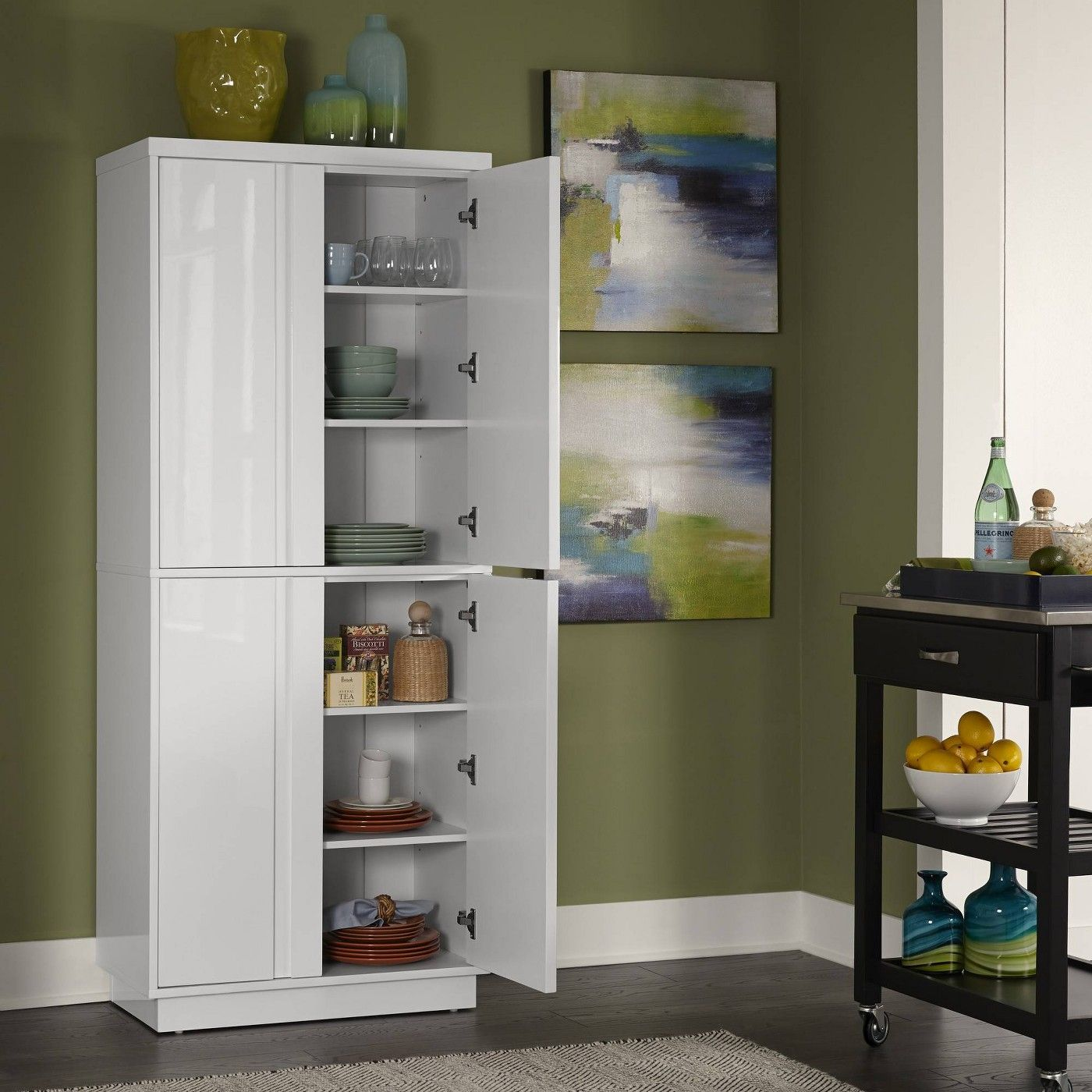 Linear Pantry White Home Styles With Images Home Styles