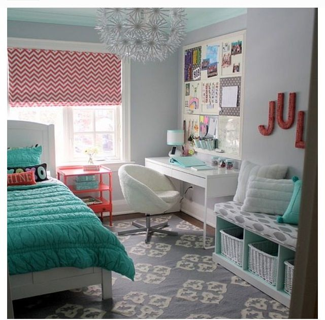 Turquesa, gris, blanco y colorado - #decoracion #homedecor #muebles