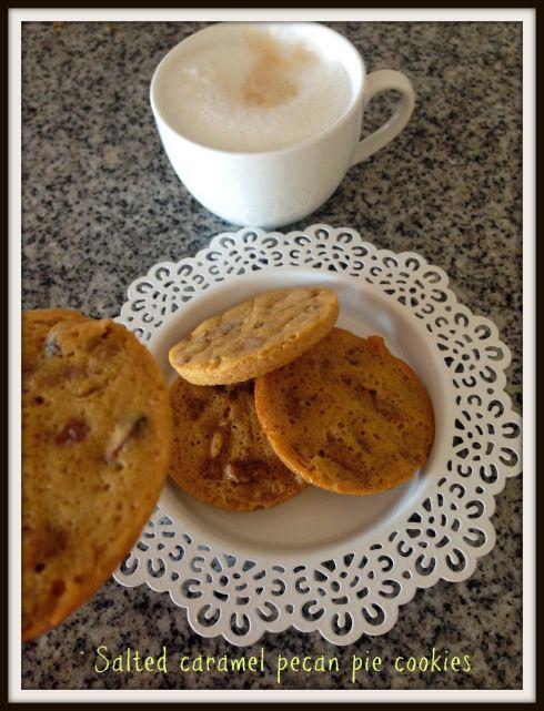 salted caramel pecan pie cookies