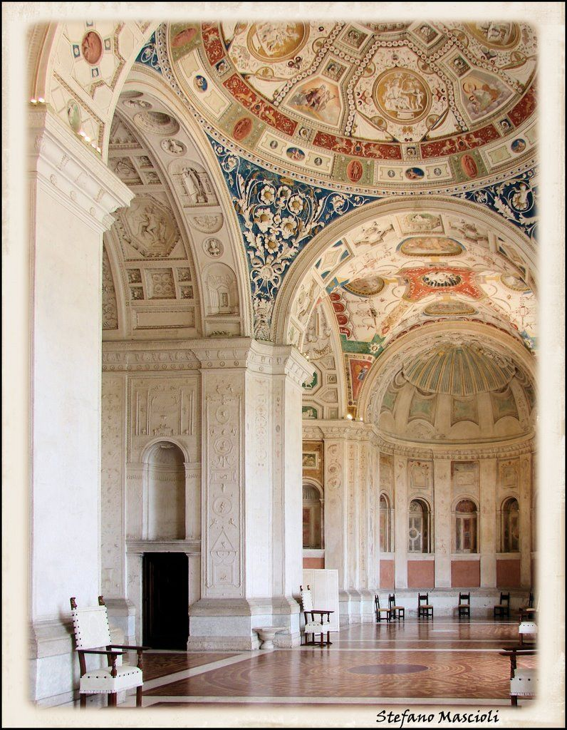 056 high renaissance architecture raphael interior of for Garden loggia designs