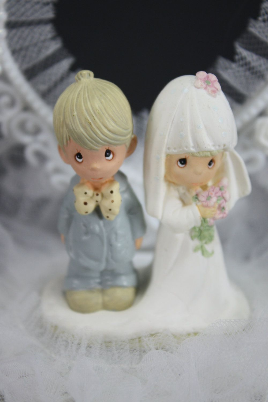 Vintage Precious Moments Cake Topper Wedding Or Anniversary 30 00 Via Etsy Bridal Cake Topper Precious Moments Wedding Cake Toppers