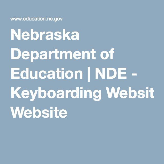 Nebraska Department of Education   NDE - Keyboarding Website