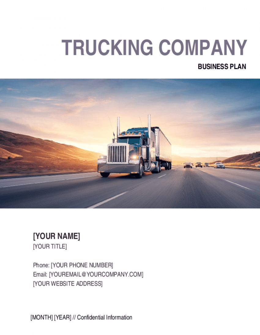 Explore Our Sample Of Trucking Company Policy Template For Free Policy Template Trucking Companies Business Plan Example Trucking company safety policy template
