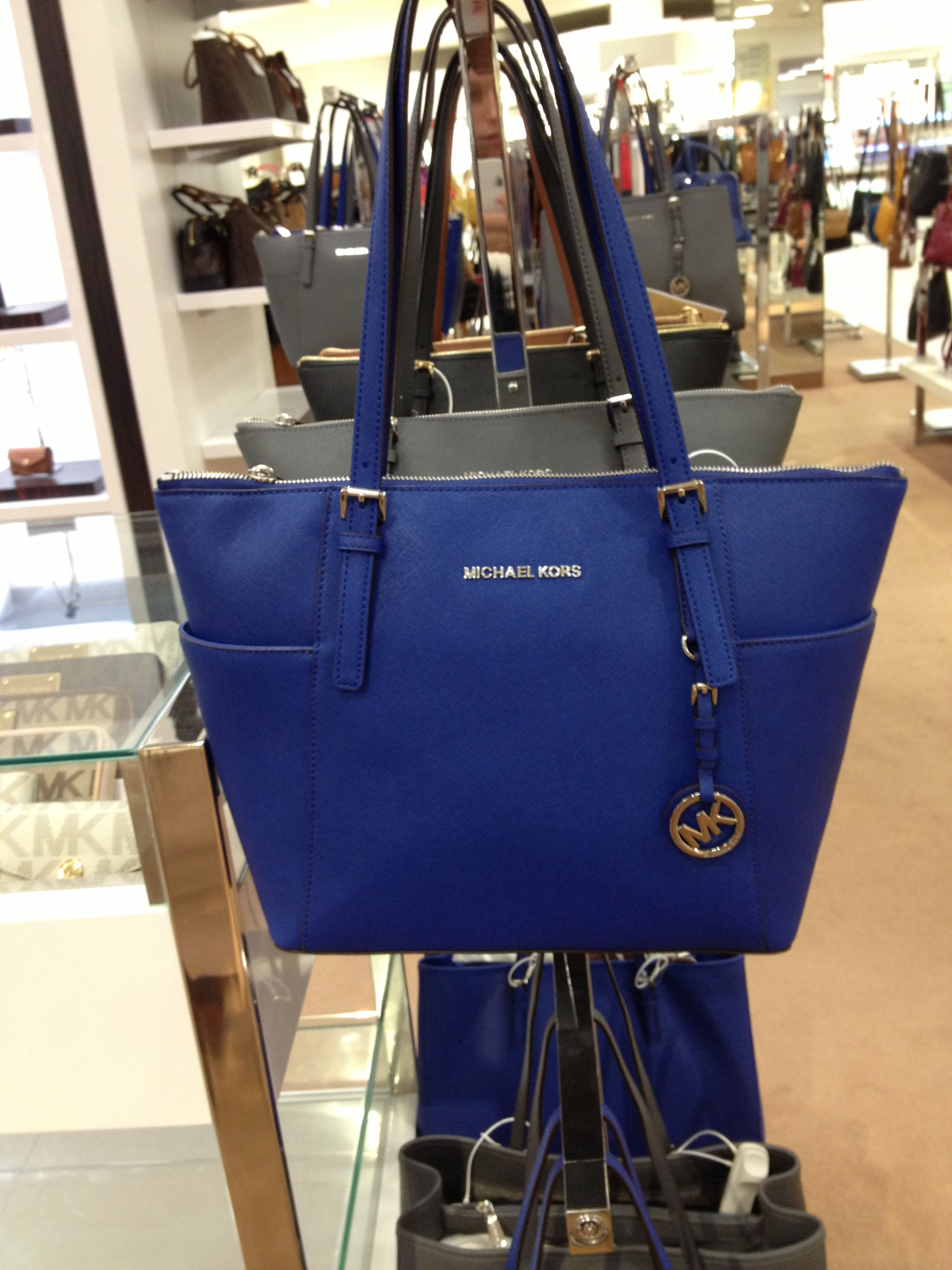 MK Michael Kors Royal Blue Purse. Im in love | Michael