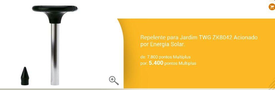 Repelente de jardim de energia solar