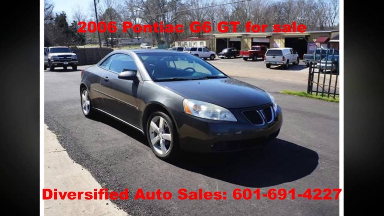 2006 Pontiac G6 Gt For Sale Diversified Auto Sales Big Paul Auto Cred Cars For Sale Vehicles Jackson
