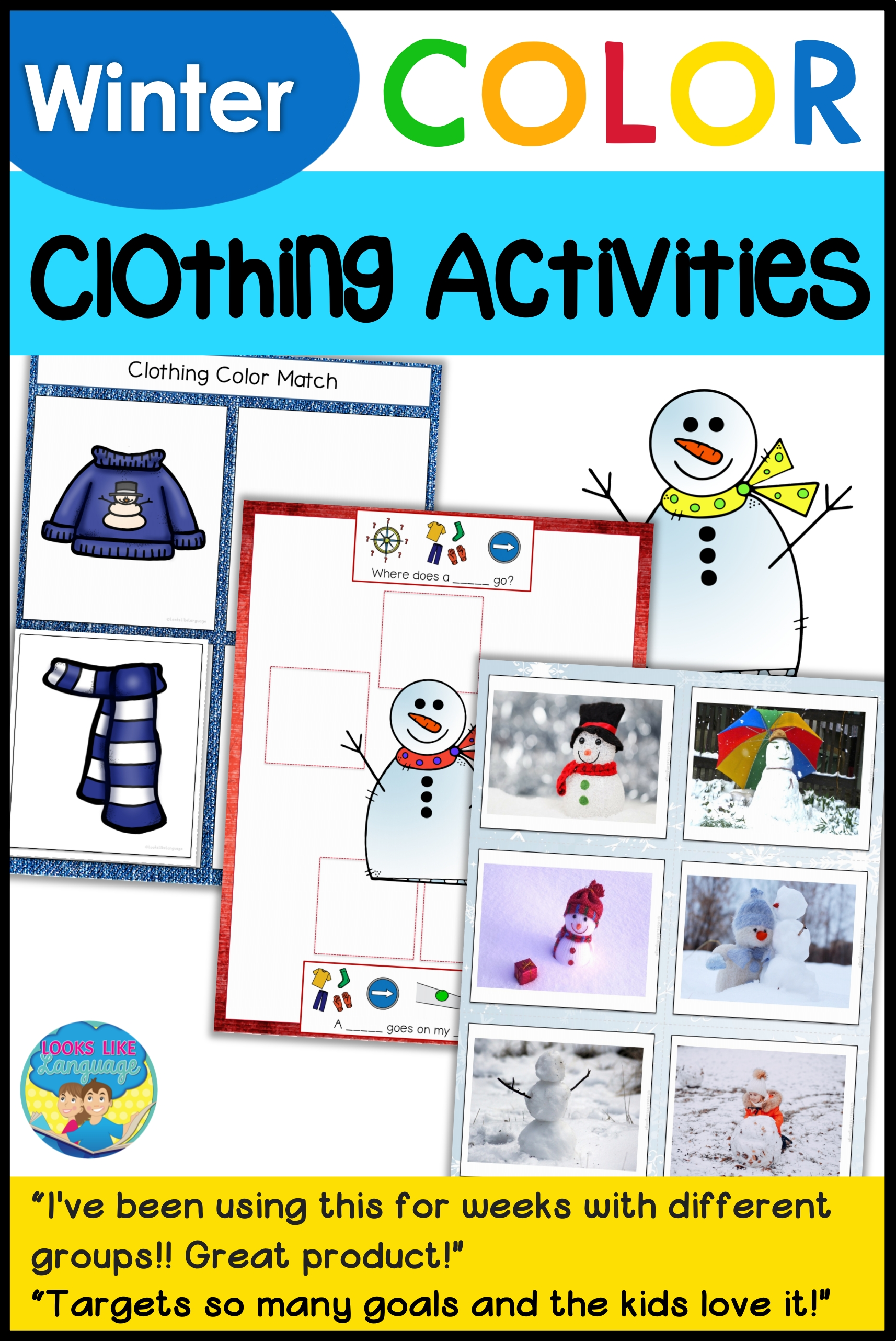 Winter Clothes And Snowman Activities
