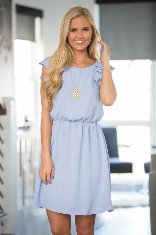 e21983bd89 A Ruffle In Time Dress Light Blue - The Pink Lily