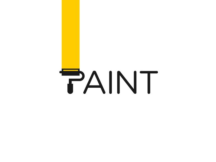 paint logotype by paulius kairevicius in logo design v i s u a l rh pinterest co uk paint logos designs paint logos ideas