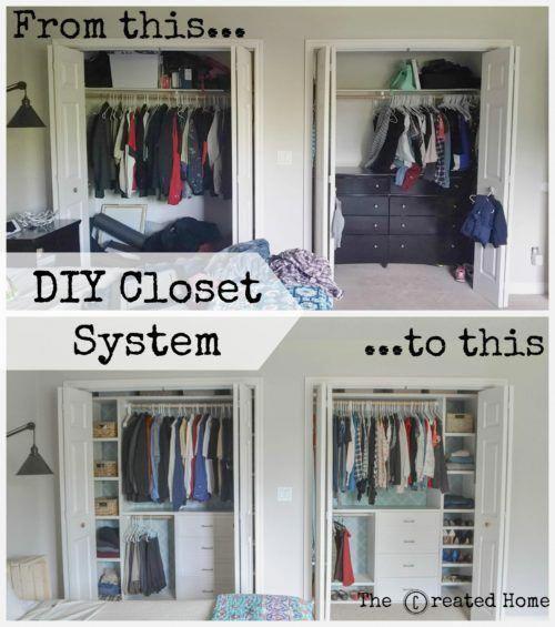 Custom small closet system - The Created Home#closet #created #custom #home #small #system