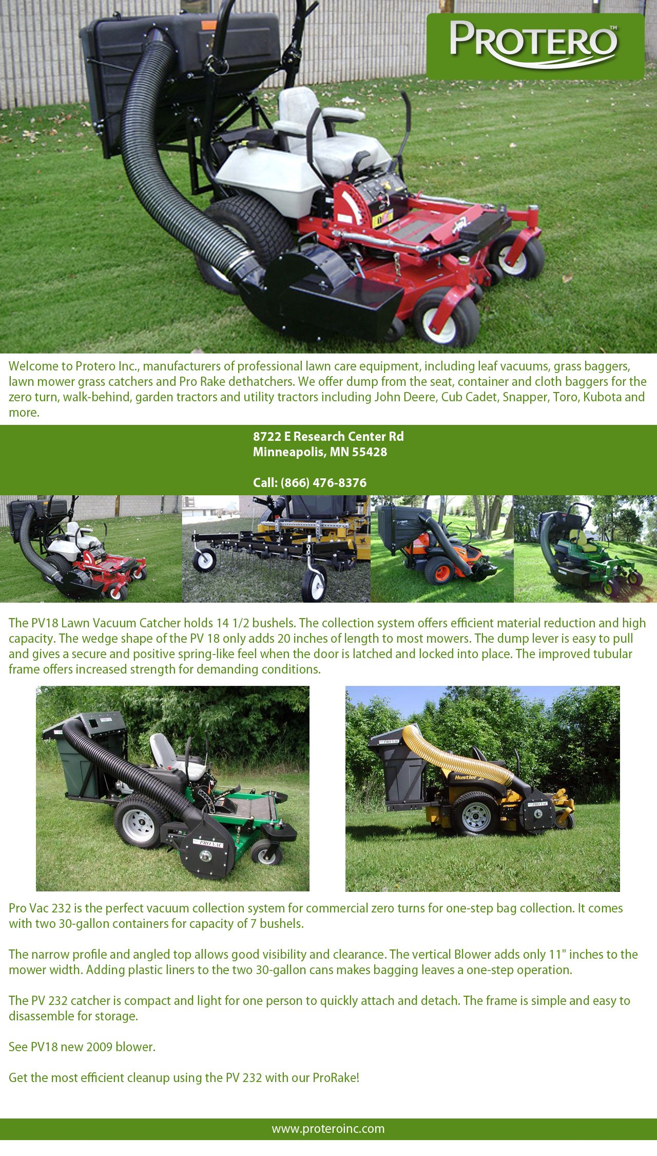 Http Www Proteroinc Com The Pro Vac Leaf Vacuum Systems Are Designed For Best Visibility Capacity Materia Zero Turn Lawn Mowers Lawn Equipment Lawn Mower
