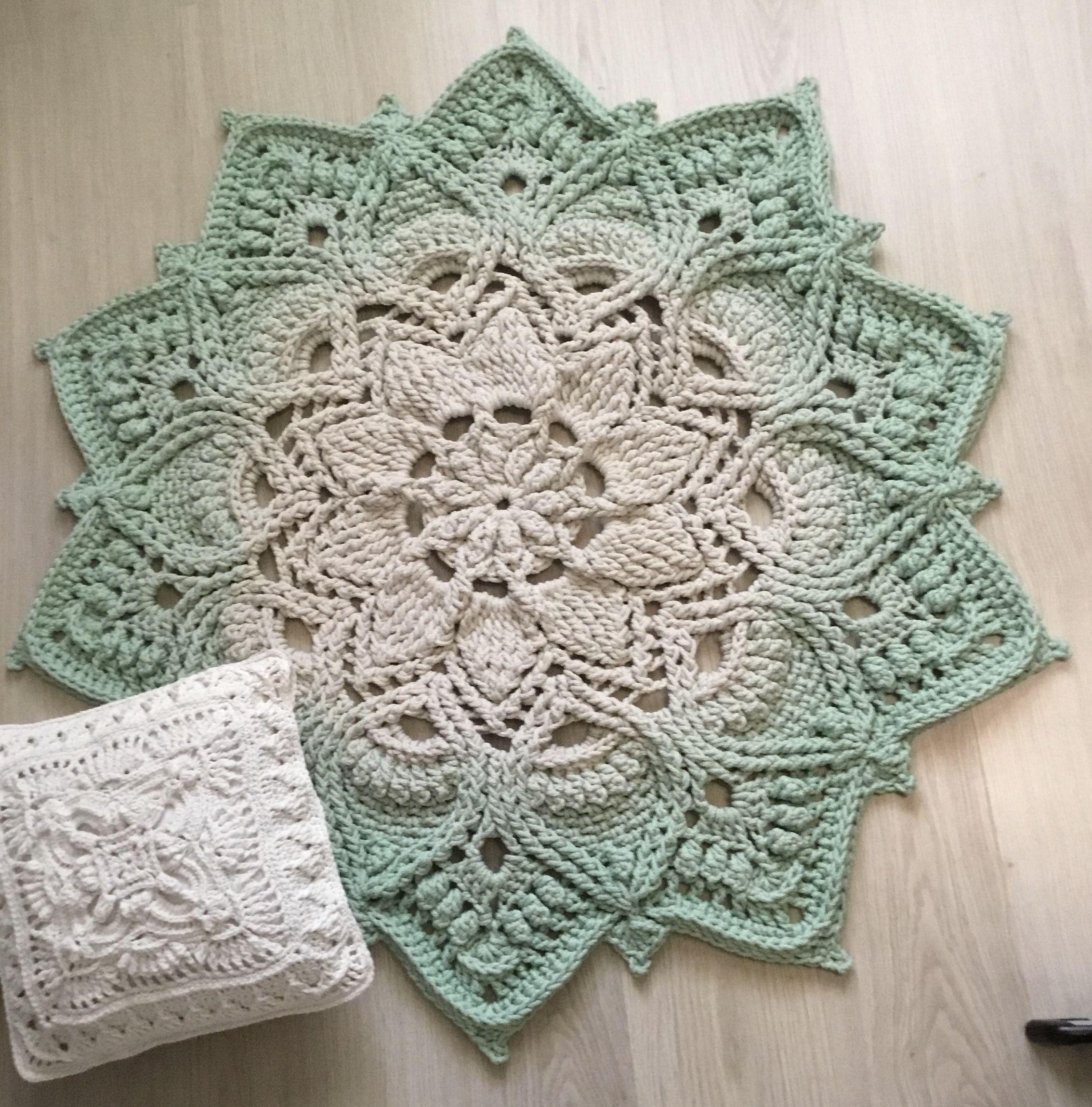 Video Tutorial Crocheting Rug Adonis Text Description In Etsy In 2020 Crochet Rug Patterns Crochet Rug Crochet