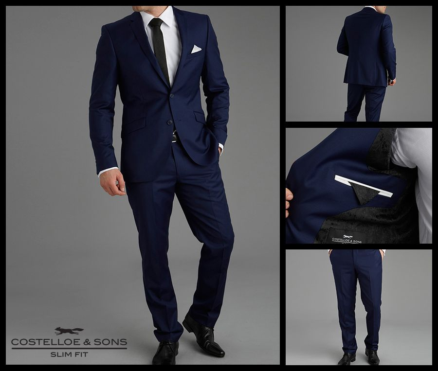 Paul Costelloe Carney Ocean Blue Slim Fit Suit http://www ...